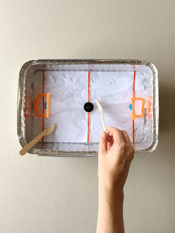 Diy Tabletop Ice Hockey Rink Kids Projects Amp Diy
