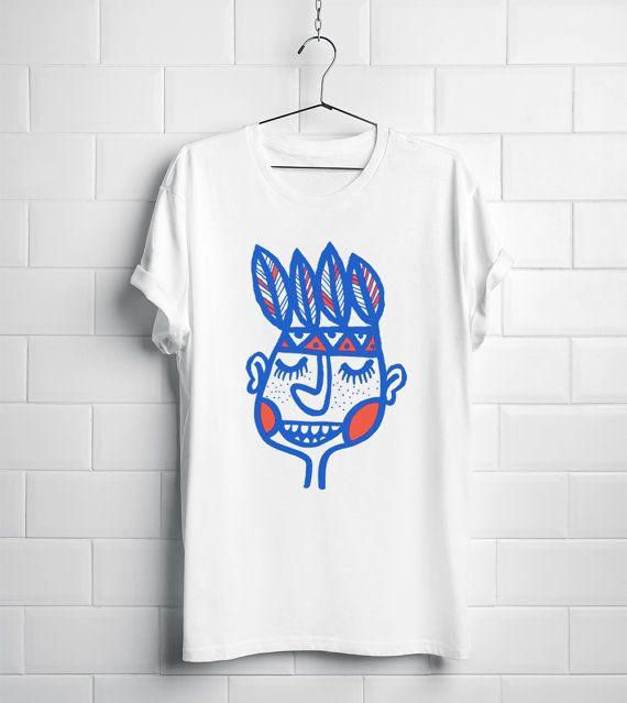Organic T-shirt-Screen print  organic cotton   feather by DURIDO