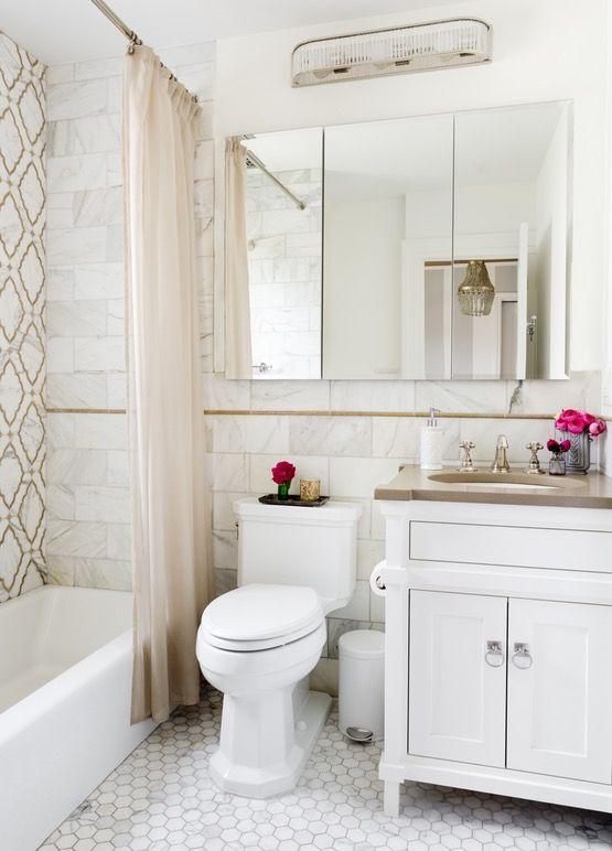 Beige and White Marble Master Bath  Irvington, New York  Bath  American  TraditionalNeoclassical by Caroline Kopp Interior Design