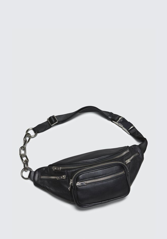 ab91e2106f1 ALEXANDER WANG ATTICA FANNY PACK IN WASHED BLACK WITH RHODIUM Shoulder bag  Adult 12 n e