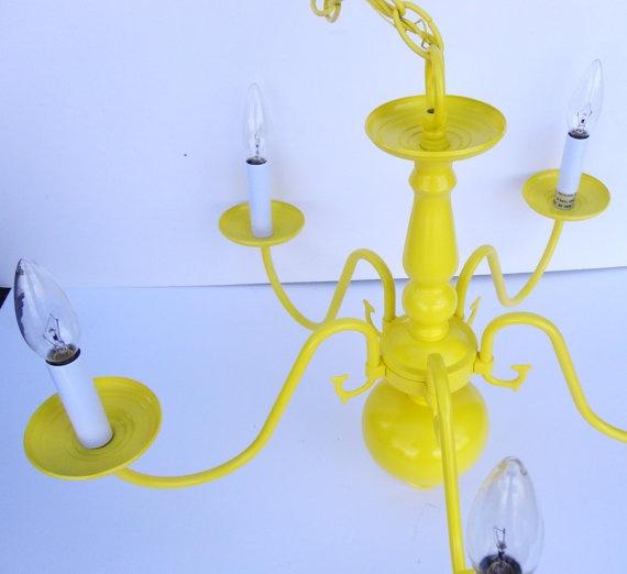 Sunshine Yellow Chandelier