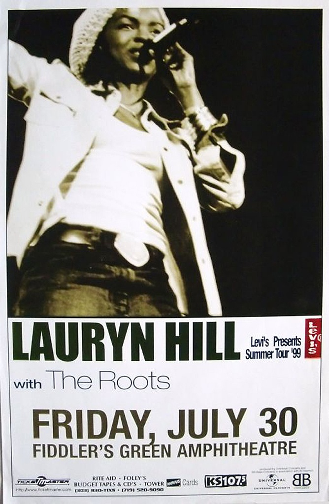 Lauryn Hill Concert Poster — July 30, 1999, Greenwood Village, CO