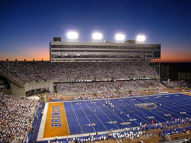 Boise State Sunset over Bronco Stadium by jasonhaberman, via Flickr