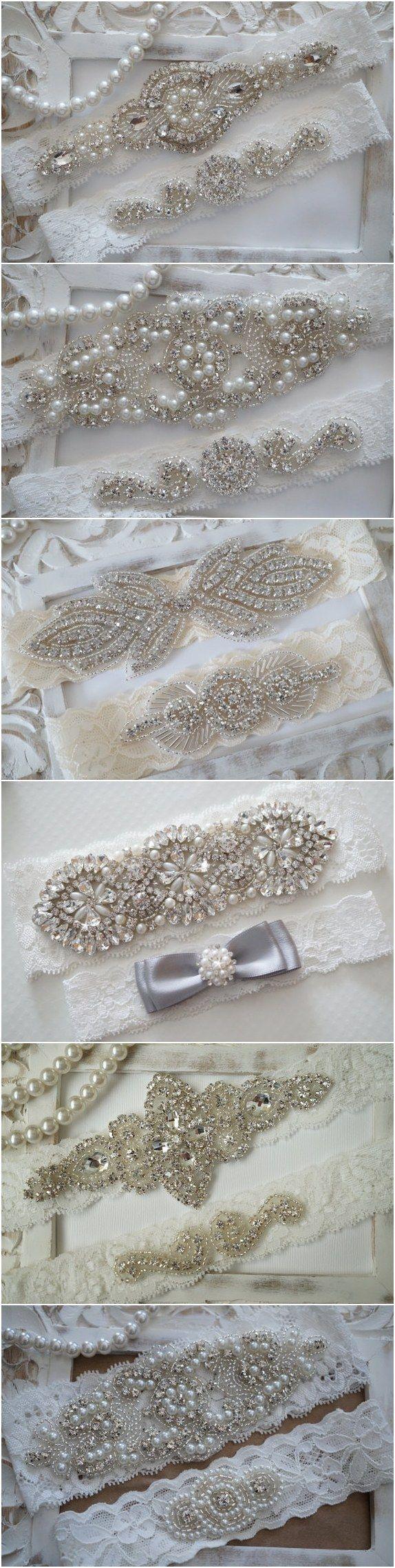 Rustic Wedding Garter Set via OneFancyDay / http://www.deerpearlflowers.com/wedding-garters-sets-from-etsy/2/