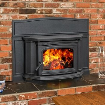 The Alderlea T5 Wood Insert will turn your fireplace into an powerful heating system—with classic cast iron styling.