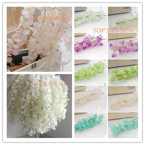Choosing wholesale 50pcs artificial silk wisteria flower for diy wedding arch square rattan simulation flowers wall hanging basket can be extension online? DHgate.com sells a variety of decorative flowers & wreaths for you. Buy now enjoy cheap price.