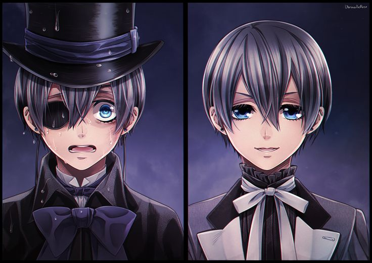 """Twin Ciels<<< I hate the twin theory i swear this other """"Ciel"""" better be a clone the undertaker made"""
