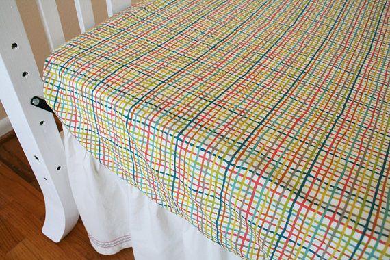 Organic Crib Sheet  Organic Toddler Sheet Fitted Crib Sheet