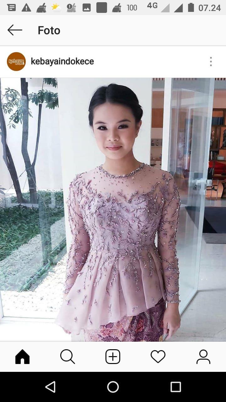 Pin oleh Adrn di kebaya Indonesia  Pakaian pesta, Model pakaian