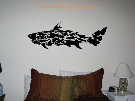 Shark Made Of Fish Vinyl Wall Art Decor Decal Stickers Collage