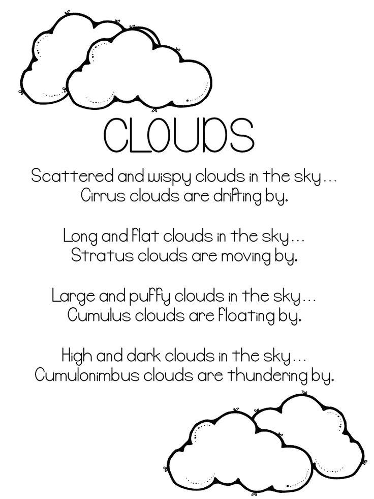 Kinds of clouds poem