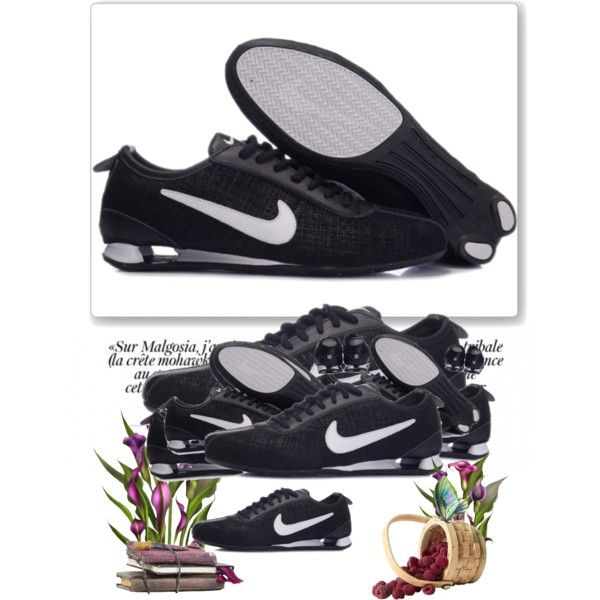 """Chaussures Nike Shox Rivalry Premium Noir/Blanc"" by covellifm-disc on Polyvore"