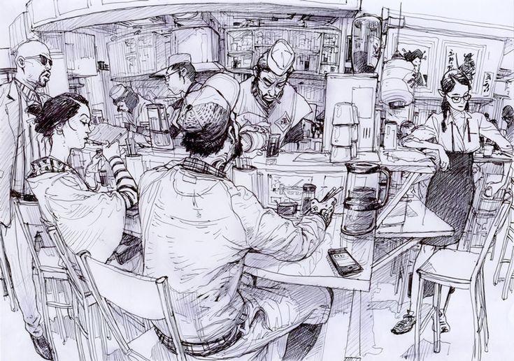 Art by South Korean Cartoonist Kim Jung Gi.