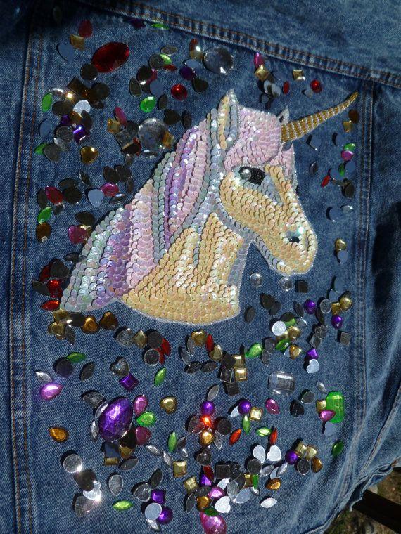 Unicorn patch, sequin patch, Kawaii unicorn applique unicorn patch sequin…