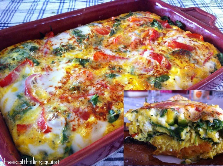 "Sweet Potato ""Crust"" Vegetable & Egg Bake  @Gina Gab Solórzano Iverson linguist easily slimming world adaptable"