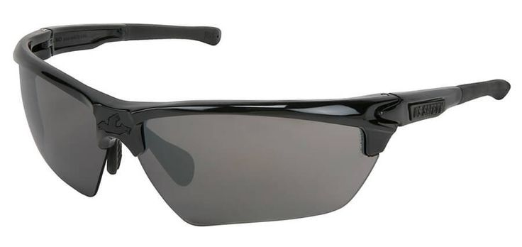 Crews dominator 3 safety glasses with black frame and