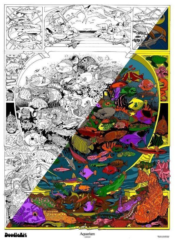DoodleArt ~ Aquarium Fabulous DoodleArt!