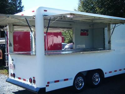 Waymatic Concession Trailer: 10/23/2012 (Shelby, North Carolina) - WE ARE SELLING AN OLDER WAYMATIC concession trailer in REALLY GOOD CONDITION FOR THE YEAR--this unit is 14ft long