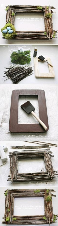 TOP 10 Home decor DIY tutorials... Love the frame without the little nest!