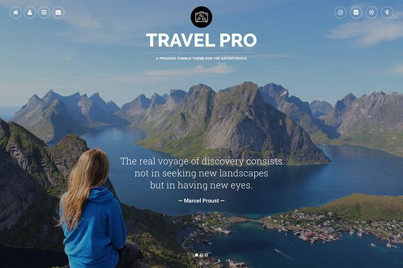 Travel Pro Tumblr Theme by Themelantic on @creativemarket. Price $49