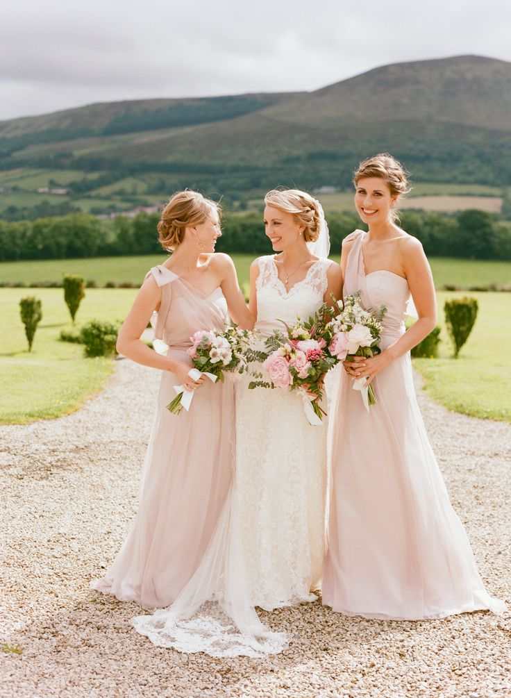 Pink Wedding Dresses Ireland : Bridal party dresses pale bridesmaid and pink