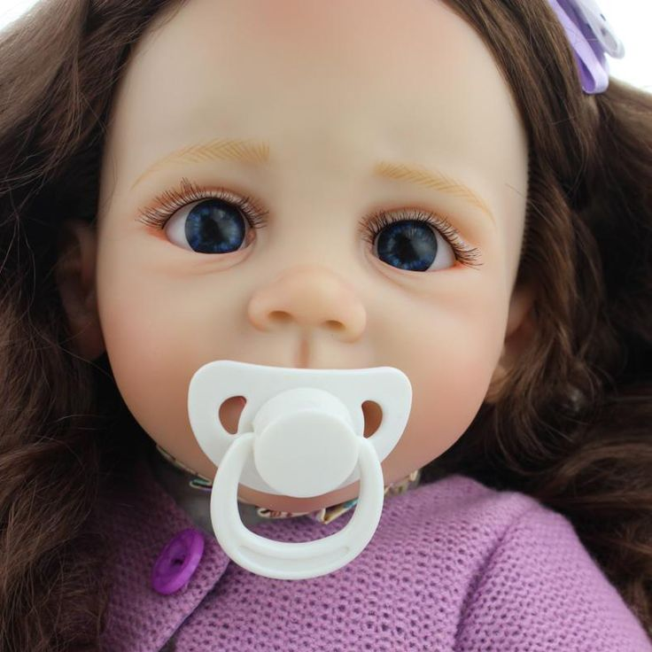 2016 New Design 55-60CM Silicone Reborn Baby DollsHandmade100% Safe Reborn Dolls Babies Toy long Hair Grooming Real Gentle Touch