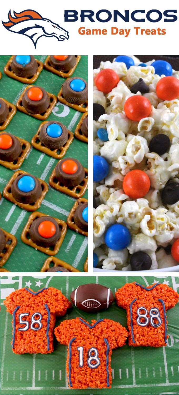 If you are a Denver Broncos fan and it is Game Day, you'll want to make one (or all) of our Denver Broncos Game Day Treats for your football watching family members. These are fun Orange and Blue football desserts that are perfect for a game day football party, an NFL playoff party or (hopefully!!!) a Super Bowl party. Follow us for more fun Super Bowl Food Ideas.
