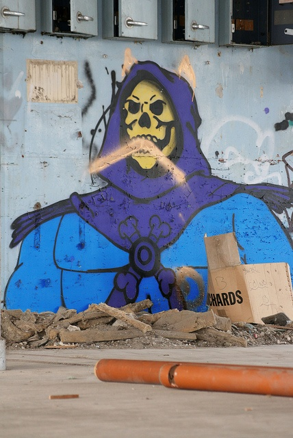 Skeletor Street Art (Possibly By Shite Citation Required?) In An Abandoned Mill