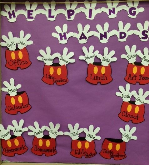 Mickey Helping Hands Classroom Decoration Disney Bulletin Board ...