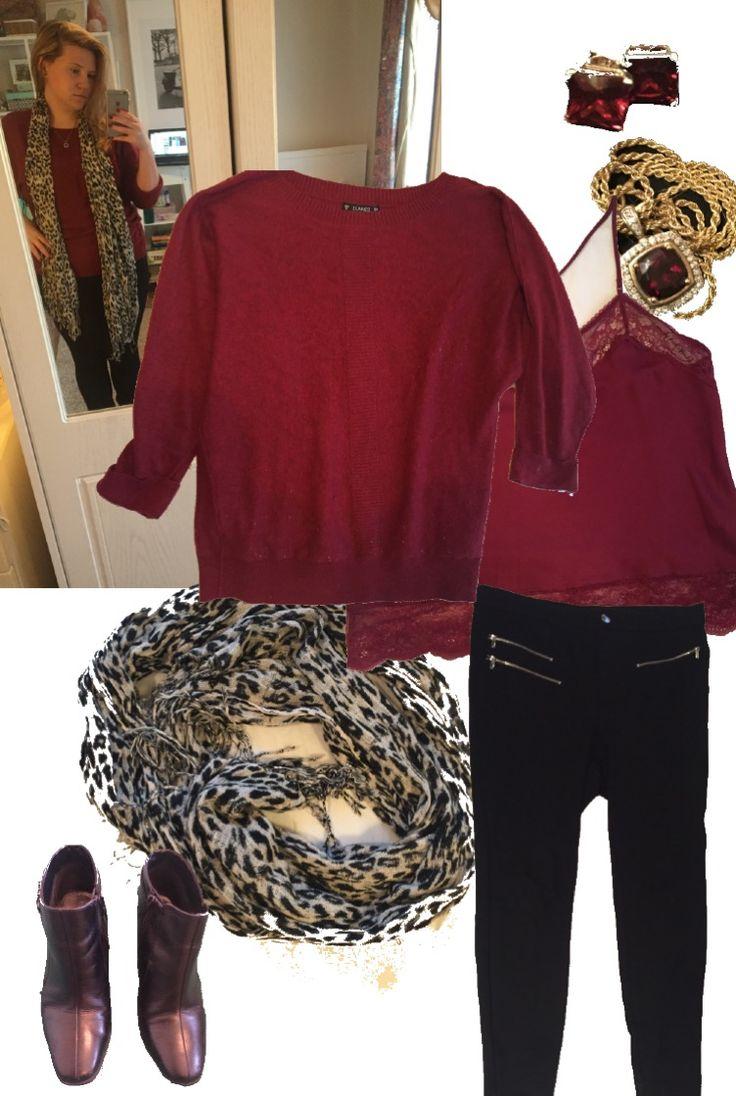 Mens black leather gloves debenhams - Petite Curvy Garnet Red Black White Jumper Dunnes Camisole