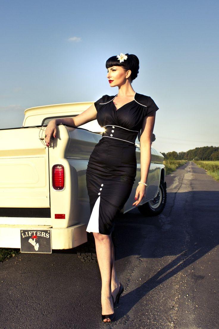 Lindy Bop 1940 S 1950 S Cecelia Stunning Black Vintage