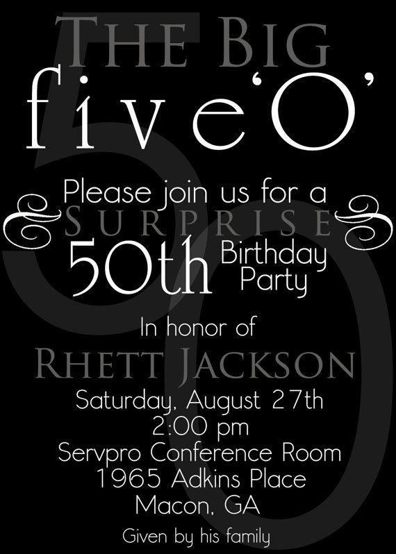 17 Best ideas about 50th Birthday Invitations on Pinterest | 50th ...