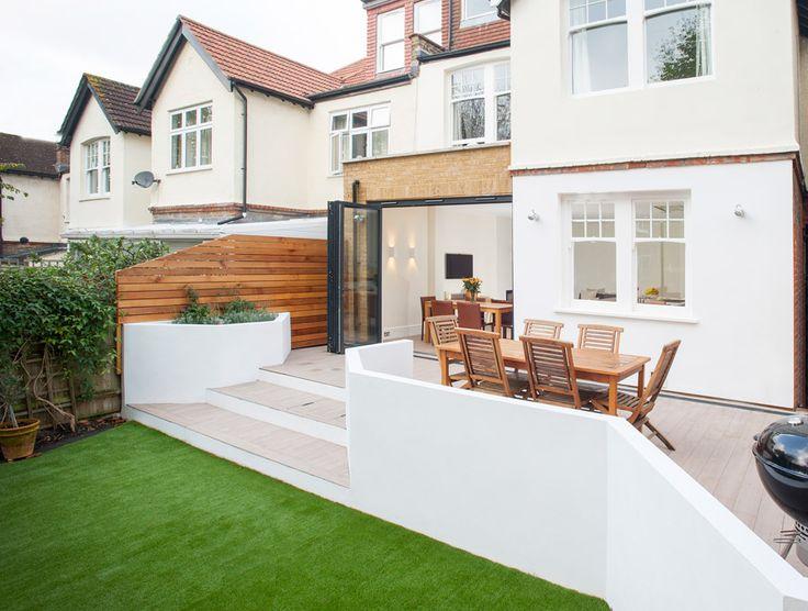 Side Extension, Kitchen Extension, Victorian Terraced House, Bi-Fold Doors, Kitchen, Rear Extension, Side Return Ideas, Cedar Cladding, Garden Patio Ideas