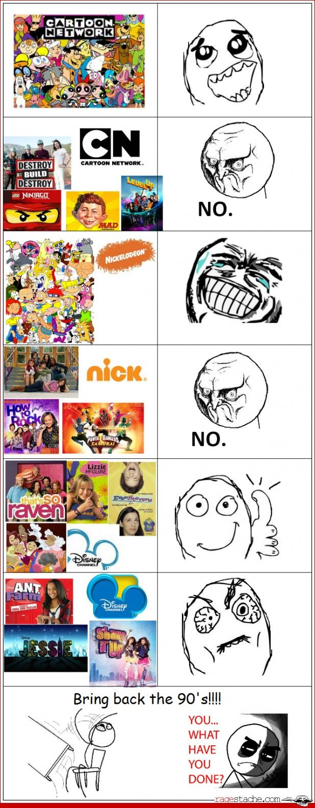 For the most part I agree, especially for Disney and Cartoon Network.