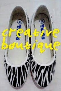 Painting shoes Zebra pattern Only 125k-135k