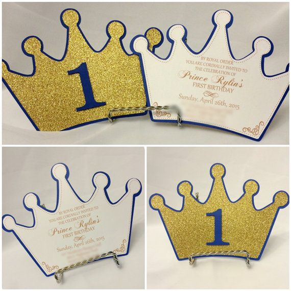 Set of 12 Princess Crown Invitations by CraftySistersPlus1 on Etsy