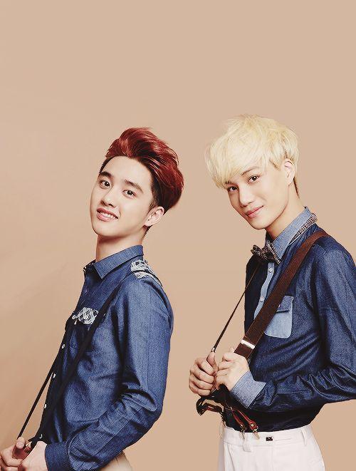 D.O (chanteur principal) et Kai (danseur principal)  EXO-K
