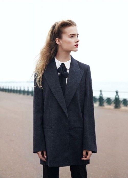 Masculine fashion for non masculine women.