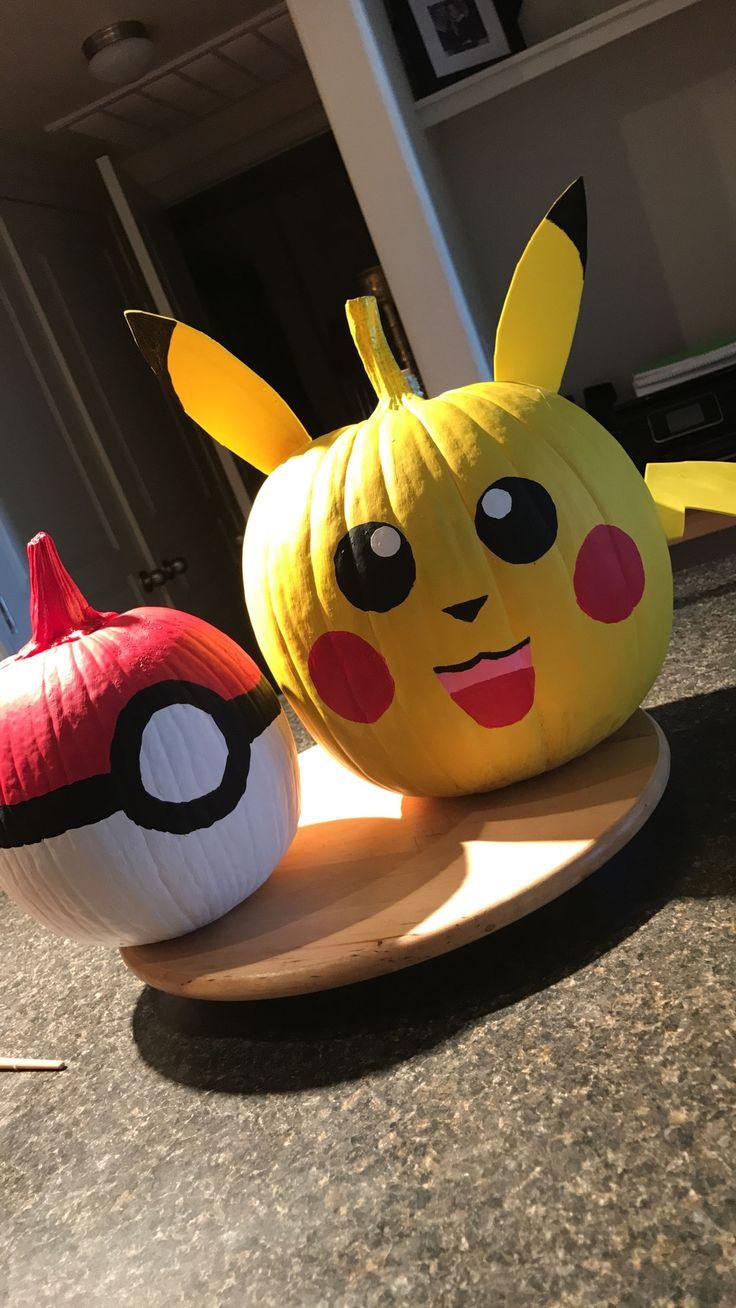 Pikachu painted Halloween pumpkin (Pokémon) Pumpkin