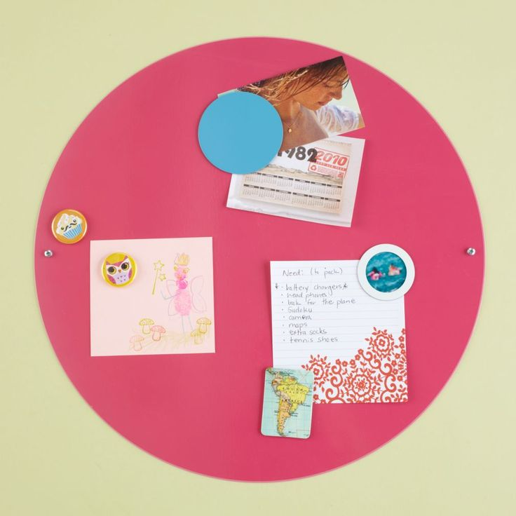 Shop Kids' Bulletin Boards: Kids White Metal Circle Magnet Board.  Let's not go round and round on this.  Let's just agree that our round magnet boards are a great way to display your kids' photos and artwork.  Okay?.