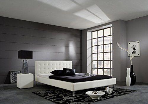 Polsterbett Bett 1951020000 weiss Kunstleder 120x200 cm