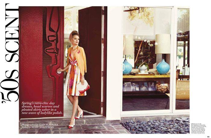 Olga Maliouk by Gabor Jurina for Fashion CanadaFashion Dresses, Olga Maliouk, 50S Scented, Gabor Jurina, 50S Fashion, Fashion Inspiration, 50S Inspiration, Fashion Editorial, Fashion Canada