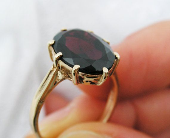 Antique style garnet ring $199