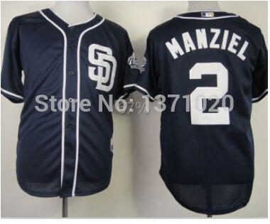 Купить товарОптовая продажа сан диего падрес #2 джонни Manziel белый / голубой джерси сшитые onfield прохладный база бейсбол кофта в категории Майки спортивныена AliExpress.  Все-Джерси имеют логотип бренда,  И Таиланд Качество ААА,  Если вы хотите увидеть реальные фото,  Вы можете связа