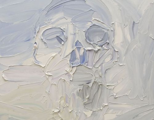 This is so simple and yet it's the texture of the paint that makes it the beautiful and emotional piece it is.  By Ben Quilty