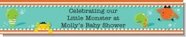 This is a personalizable banner for our brand new little monster baby shower theme.