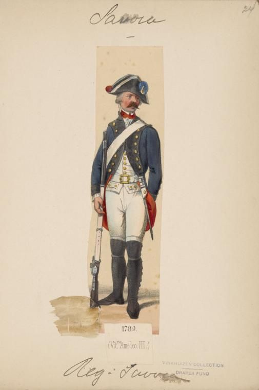 Savoy Infantry Regiment Savoia 1789