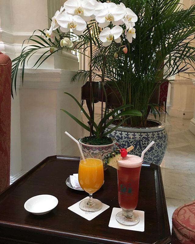 Welcome drinks at #RafflesHotelSingapore  Mar.2016