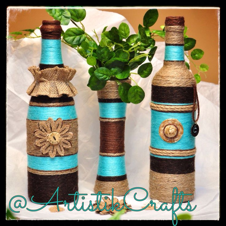 Turquoise and Brown Set
