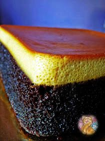 Kek Coklat Puding Karamel